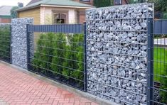 Natural & Modern Outdoor Gabion Ideas – Unique Balcony & Garden Decoration and Easy DIY Ideas - Zaun Ideen Diy Pergola, Pergola Screens, Modern Pergola, Modern Fence Design, Fence Wall Design, Privacy Fence Designs, Gabion Wall, Gabion Fence Ideas, Diy Fence