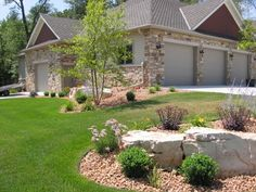 These limestone rocks add so much character to landscaping.