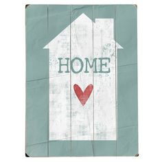 Home Heart Wall Art