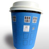 Doctor Who printables dyi, tardis, dalek, popcorn boxes, cupcake wrappers, coffee