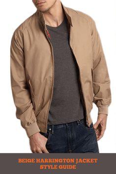 Beige Harrington Jacket Style Guide