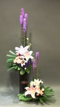 Double arrangement for Church Floral Design.   Gordon Lee