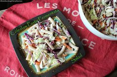 Coleslaw Pasta Fermentata Salad by Renée Altman RHN, Verity Nutrition Great as a side dish for any bbq!