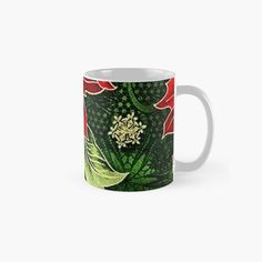 Green Christmas, Christmas Themes, Christmas Gifts, Beer Mugs, Coffee Mugs, Holiday Treats, Poinsettia, Red Green, Colorful Backgrounds