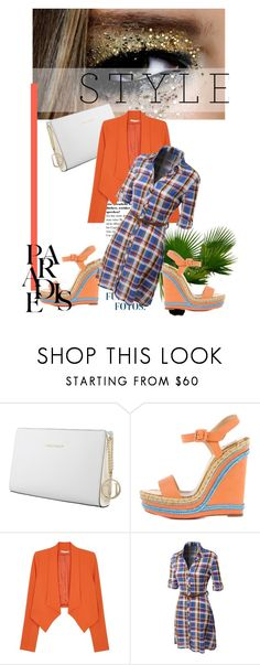 """""""Orange You Glad"""" by alwaysroyal on Polyvore featuring Trussardi, Christian Louboutin, Alice + Olivia, LE3NO, cute, orange and summer2016"""