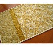 Handmade Quilted Table Runner Golden Christmas