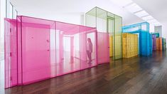 Meticulously replicating the architecture of the places in which he has lived and worked, Do Ho Suh's structures at Victoria Miro, London, talks about migration and shifting identities. Fabric Installation, Artistic Installation, Street Installation, Art Installations, Bureau Design, Design Thinking, Do Ho Suh, Interior Architecture, Interior Design
