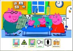 """MATERIALES DE COMUNICACIÓN AUMENTATIVA """"Pompas"""", cuento de Peppa Pig, adaptado con pictogramas."""