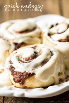 Quick and Easy Cinnamon Rolls at http://therecipecritic.com A quick and easy recipe that is great for beginners! Gooey and delicious and dripping with a cream cheese glaze!