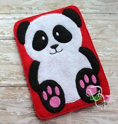 Panda Device Case ITH Embroidery Design