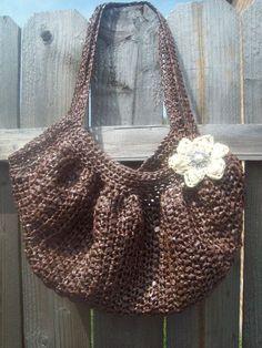 I love my fat bottom bag I made from plarn