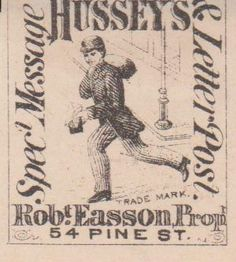 "U.S. Revenue Stamp Hussey's ""Special Message & Letter Post."