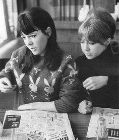 Patti Boyd and Maureen Starkey