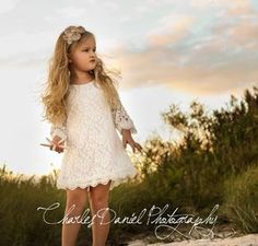 The Chloe Flower Girl Lace Dress Birthday by DLilesCollection
