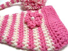 Crochet Beanie Hat Elf Hat Girl Pink Hat by LittleMommaBoutique, $16.00