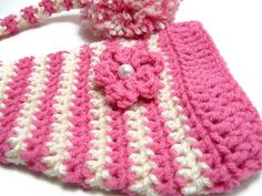 Crochet Beanie Hat Elf Hat Girl Pink Hat by LittleMommaBoutique, $16.00