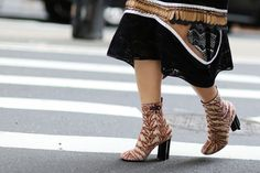 38 Gorgeous Shoes Spotted On The Streets Of New York City #refinery29  http://www.refinery29.com/2015/09/93849/best-fall-shoes-fashion-week-street-style#slide-4  Fall-inspired booties to take you through the changing seasons in style....