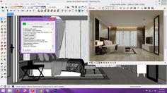 making of interior scene , vray sketchup -- lovely tutorial