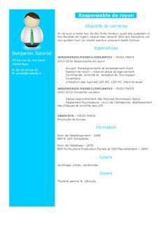 Exemple de CV gratuit en 2 colonnes, ce curriculum vitae 'bleu ciel' dynamique mettra en valeur toutes vos expériences. Facile à éditer, vous pouvez éditer ce CV de A à Z gratuitement.