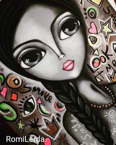 Art Faces, Face Art, Beauty In Art, Rock Painting Designs, Doll Painting, Arte Pop, Art Journal Inspiration, Whimsical Art, Big Eyes