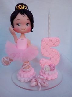 Ballerina Birthday Parties, Ballerina Party, Ballerina Dancing, Number Cakes, Balerina, Mini Mouse, Gum Paste, Cake Toppers, Favors
