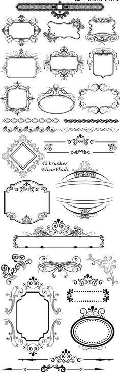 FREE Photoshop brushes: Vintage frames by Stephanie Tarver