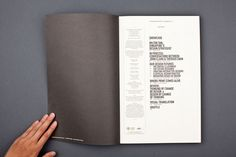 Table of contents design - TDS Journal