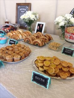 Brunch bridal shower buffet