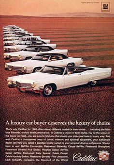 Cadillac Line 1968 The Luxery Of Choice - www.MadMenArt.com | Vintage Cars…