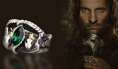 Lord of the Rings LOTR Ring of Barahir of Aragorn Green Rhinestone Crystal Ring | $4.49/pc