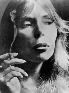 We always celebrate Sweet Joni's birthday here on OF…    Tonite we do the mid-70s albums.    Photo: Joni in 1974