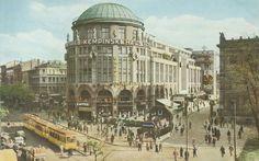Ansichtskarte ca. 1934/35 Vorderseite und Ausschnitt der Rückseite.