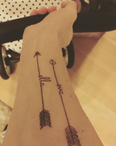My girls #tattoo #arrows