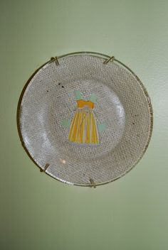 quick tutorial on vintage paper doll plates! perfect little girl decor! via LifeOnLyford