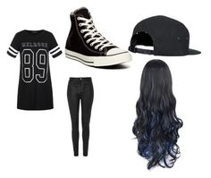 """""""tomboy"""" by kymanithompson ❤ liked on Polyvore featuring Ally Fashion, Topshop and Converse"""