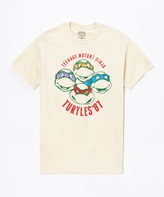 Natural 'Turtles '87' Tee - Men's Regular by Teenage Mutant Ninja Turtles #zulily #zulilyfinds