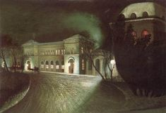 The Eastern Railway Station at Night - Csontvary Tivadar Kosztka