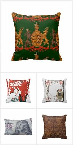 German Images on Pillows