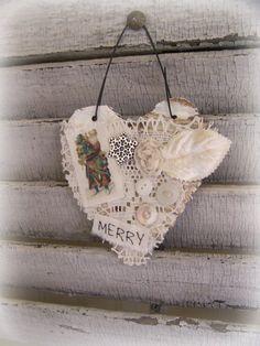 Handmade Christmas Ornament Altered Art