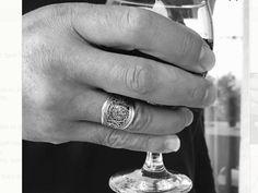 bague   anneau  homme argent vintage  ajustable