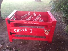 Kids bucking chute, that I made for our arena