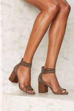 Strap the World Suede Heel - Shoes sexy nude sandals