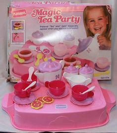 """Playskool """"Magic Tea Party"""" (and don't even bother inviting the likes of Ted Cruz or Sarah Palin to THIS! Right In The Childhood, 90s Childhood, Childhood Memories, Sweet Memories, Tea Party Setting, 90s Girl, Oldies But Goodies, Good Ole, Vintage Toys"""