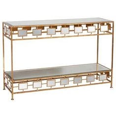 Cage Hollywood Regency Gold Mirror Console Table. #kathykuohome