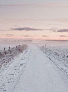 Sunrise over the snow