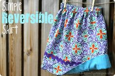 Simple Reversible Skirt. If I can find some time, you know I will make these for my nieces. So cute!