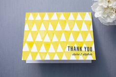 Triangular Thank You Cards by Paper Dahlia at minted.com