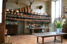 Incredible copper assemblage with graduated fish pots.