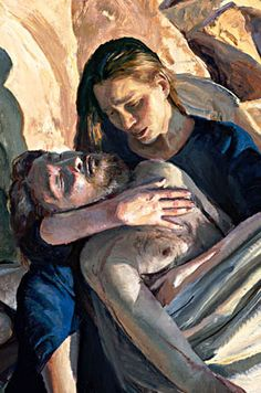 PIETA MARY WITH DEAD BODY OF JESUS BIBLICAL SCENE PAINTING BY VAN GOGH REPRO