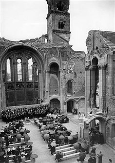 Germany, Berlin, Gedaechtniskirche: concert of berlin teachers for the benefit of the reconstruction of the church. 1952